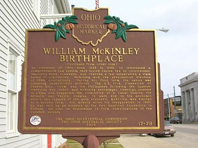 McKinley Birthplace Home Historical Marker